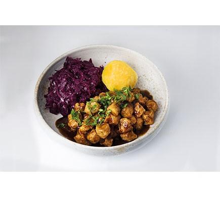 plat à base de boulettes de soja